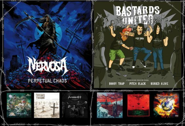 WOM Reviews – Nervosa / Booby Trap / Pitch Black / Buried Alive / Gama Bomb / Cryptic Shift / Furious Trauma / Goat Tyrant / Angriff / Shaark