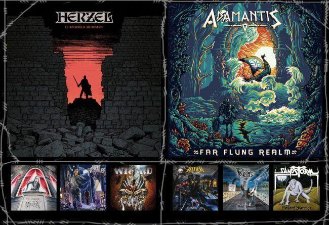 WOM Reviews – Herzel / Adamantis / Phallax / Rider / Night Prowler / Em Ruínas / Wizard / Sandstorm