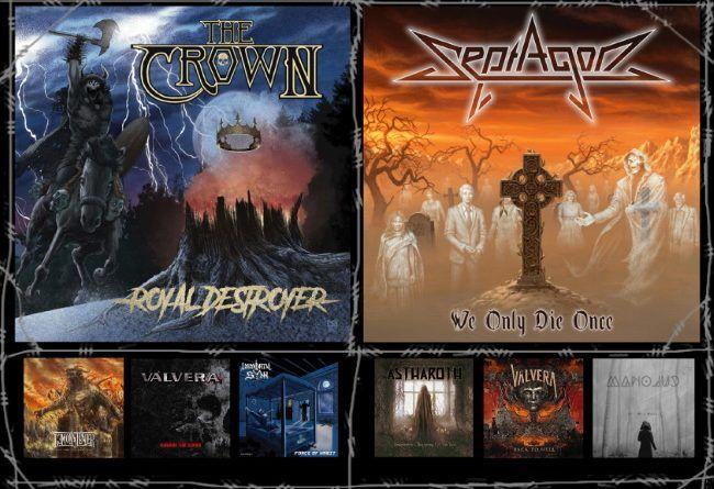 WOM Reviews – The Crown / Septagon / Demonstealer / Astharoth / Válvera / Immortal Sÿnn / Manoluc