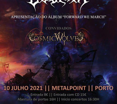 """10.07.21 – Godark – Apresentação do álbum """"Forward We March"""", Cosmic Wolves – Metalpoint, Porto"""