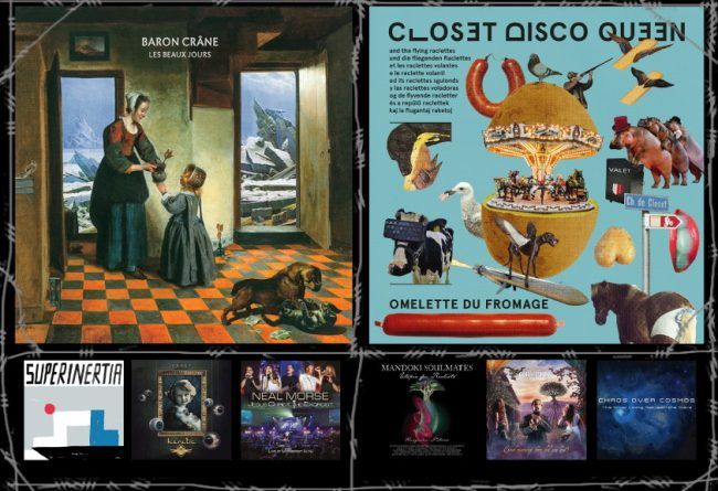 WOM Reviews – Baron Crâne / Closet Disco Queen & The Flying Raclettes / 10000 Russos / Mandoki Soulmates / Heretic / Cryptex / Neal Morse / Chaos Over Cosmos